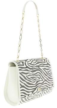 Roberto Cavalli Medium Shoulder Bag Audrey White/black Shoulder Bag