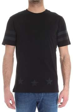 Hydrogen Men's Black Cotton T-shirt.