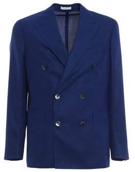 Boglioli Men's Blue Wool Blazer.