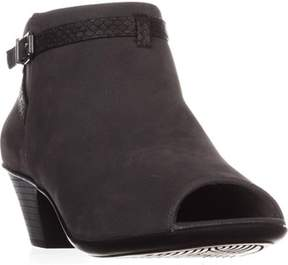 Easy Street Shoes Sparrow Peep-toe Ankle Booties, Grey/snake.
