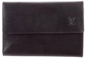 Louis Vuitton Epi Porte Trèsor Etui Papiers Wallet - BLACK - STYLE