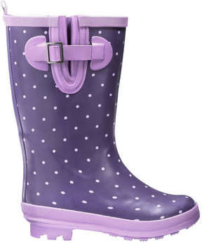 Joe Fresh Kid Girls' Print Lined Rain Boots, Purple (Size 6)