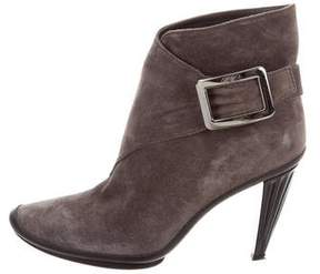 Roger Vivier Buckle Suede Ankle Boots