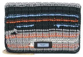 Prada Tricot wool clutch
