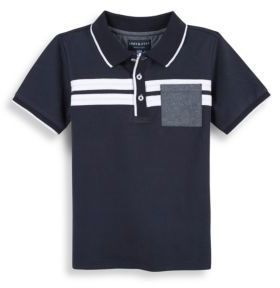 Andy & Evan Boy's Contrast Stripe Polo