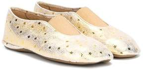 Pépé star print metallic slippers