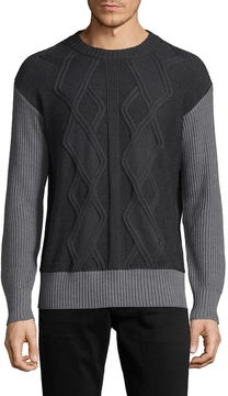Armani Exchange Men's Ribbed Cableknit Sweater