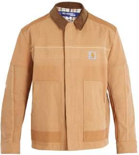 Junya Watanabe X Carhartt point-collar cotton-canvas jacket