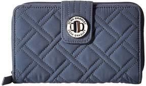 Vera Bradley Turnlock Wallet Bill-fold Wallet - CHARCOAL - STYLE