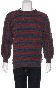 Salvatore Ferragamo Wool & Mohair Striped Sweater