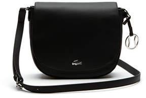 Lacoste Women's Daily Classic Fine Piqu Grains Flap Crossover Bag