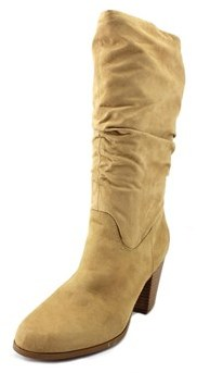 Rampage Venice Women Round Toe Synthetic Tan Mid Calf Boot.