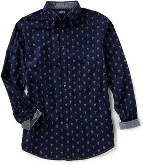 Roundtree & Yorke Casuals Long-Sleeve Deer Print Sportshirt