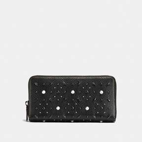 COACH Coach New YorkCoach Accordion Zip Wallet With Prairie Rivets - BLACK COPPER/BLACK - STYLE