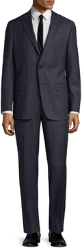 Hickey Freeman Men's Checkered Intarsia Notch Lapel Suit