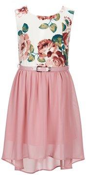 I.N. Girl Little Girls 4-6X Floral-Print Hi Low Dress