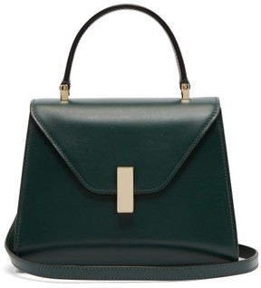 Valextra Iside Mini Leather Bag - Womens - Dark Green