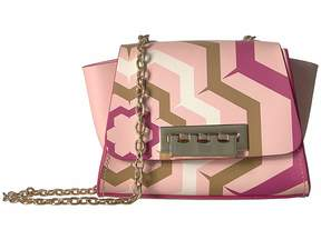 Zac Posen Eartha Mini Chain Crossbody - Printed Hex Floral Cross Body Handbags