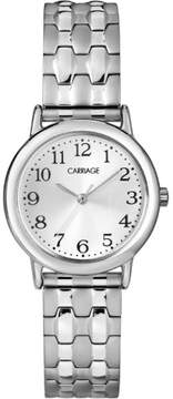 Timex Carriage by Women's Carly Watch, Silver-Tone Stainless Steel Expansion Band