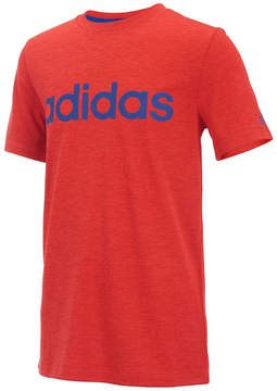 adidas Heather Bright Red Climalite® Linear Tee - Toddler & Boys