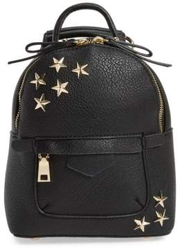 Bp. Mini Star Stud Faux Leather Backpack - Black