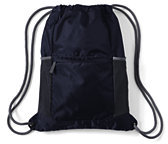 Lands' End Packable Cinch Sack-Classic Navy