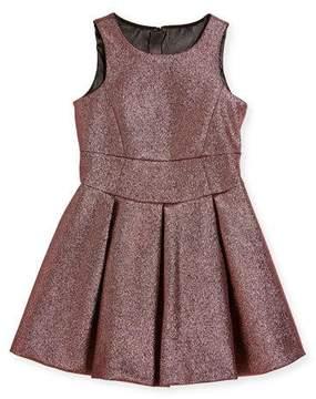 Milly Minis Scoop-Neck Metallic Dress, Size 4-7