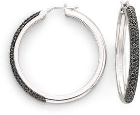 Black Diamond FINE JEWELRY 1/2 CT. T.W. Color-Enhanced Hoop Earrings