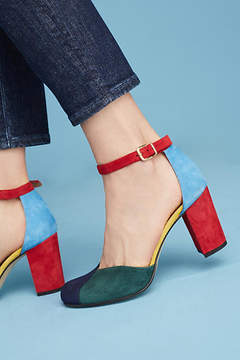 Anthropologie Colorblock Heels