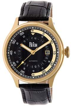 Reign Targaryen Collection Men's Automatic Leather and Stainless Steel Watch