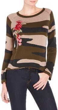 Cliche Camouflage Cutout Back Sweater
