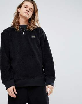 Burton Snowboards Tribute Borg Fleece Sweatshirt in Black
