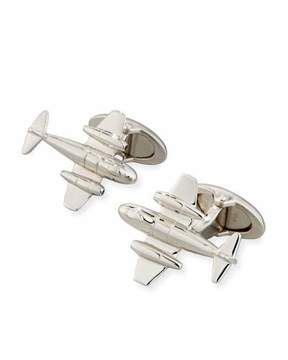 Dunhill Meteor Rhodium-Plated Silver Cuff Links