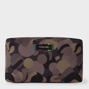 Paul Smith Men's Khaki Camouflage Print Wash Bag