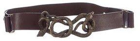 Roberto Cavalli Leather Embellished Belt