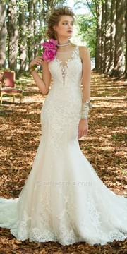 Camille La Vie Tulle Beaded Lace Mermaid Wedding Dress