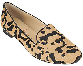 Sole Society As Is Cheetah Haircalf Slip-on Loafers - Miia