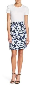 Atelier Luxe Comfort Waist Floral Pencil Skirt (Petite)