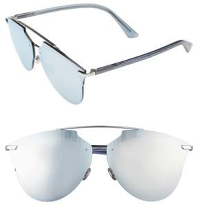 Christian Dior Women's Reflected Prism 63Mm Oversize Mirrored Brow Bar Sunglasses - Grey/ Silver Mirror