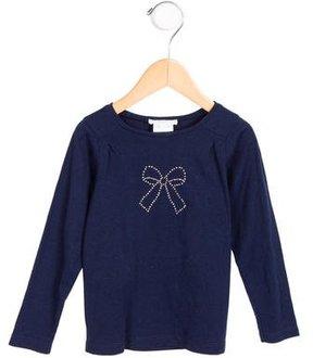 Jacadi Girls' Embellished Long Sleeve Top