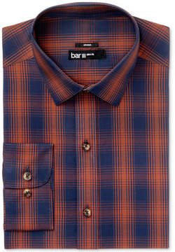 Bar III Men's Slim-Fit Stretch Easy-Care Ombre Twill Plaid Dress Shirt, Created for Macy's