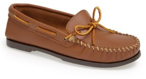 Minnetonka Men's Leather Camp Moccasin