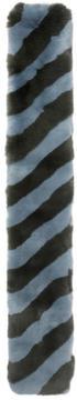 Fendi Blue and Green Fur Scarf