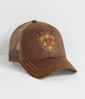 Ariat Oil Skin Trucker Hat