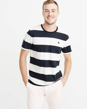 Abercrombie & Fitch Striped Icon Crew Tee