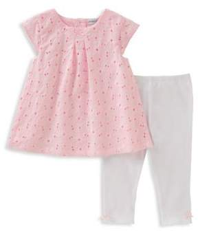 Absorba Baby Girl's Two-Piece Eyelet Tunic and Leggings Set