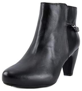 Easy Spirit Parilynn Women Round Toe Leather Black Ankle Boot.