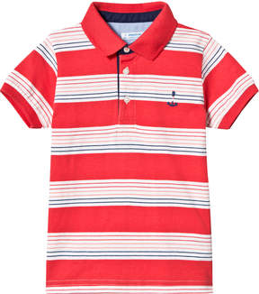 Mayoral Red Stripe Short Sleeve Polo