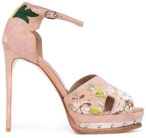 Alexander McQueen hobnail platform sandals