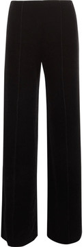 By Malene Birger Ailotte Velvet Wide-leg Pants - Black